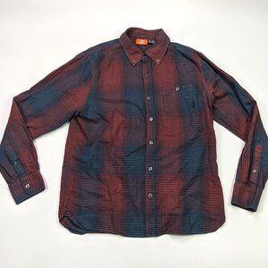 Merrell Flannel Button Front Size L Plaid Shirt